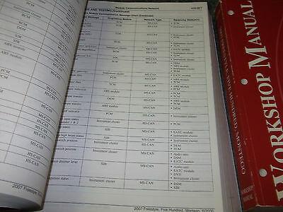 2007 FORD FREESTYLE FIVE HUNDRED 500 MONTEGO Service Shop Repair Manual Set EWD