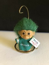 "Vintage Good Luck 3"" Troll Doll Russ Berrie Eagles 1990 NFL w/ Stand - $18.95"