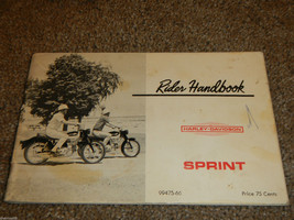 Harley Davidson Sprint 250 Amf Aermacchi C / H Owner Owners Owner's Manual - $93.49