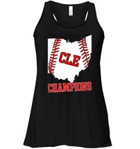 CLE State of Ohio Baseball Outline Champions Flowy Racerback Tank - $26.95+