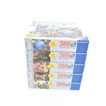 Lot 5 Ravensburger Large Format 300 Pieces Puzzles Complete - $34.64