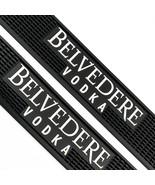 2 Belvedere Vodka Black Rubber Bar Mats - Man Cave Decor Barware Spill Mat  - $29.69