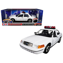 2001 Ford Crown Victoria Police Car Plain White with Flashing Light Bar, Fron... - $71.07