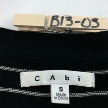 CAbi Cardigan Sweater Womens Small Black Stripe 3/4 Sleeve Ruffle Button B13-03P image 6