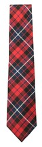 NEW MENS TOMMY HILFIGER LARGE PLAID RED 100% SILK NECK TIE $65 image 2