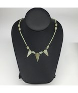 "12.4g,2mm-27mm, Small Green Nephrite Jade Arrowhead Beaded Necklace,19"",... - $4.75"