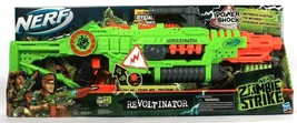 Hasbro Nerf Zombie Strike Power Shock Revoltinator Blaster With Clip & 18 Darts - $75.99