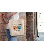 Knitting Takes Ball Funny Graphic Design Eco Tote Bag - $29.50