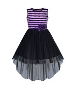 Flower Girl Dress Hi-lo Black and Purple Party Pageant 2019 Summer Princess - $23.89
