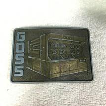 Vintage Belt Buckle Goss Metroliner Printer Picture on Front T16 - $22.28