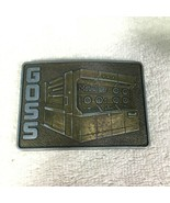 Vintage Belt Buckle Goss Metroliner Printer Picture on Front T16 - $22.28