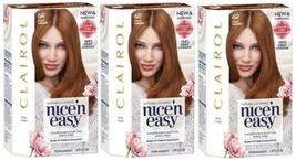 3 Boxes Clairol Nice 'n Easy Permanent Hair Color, 6R Light Auburn - $26.72