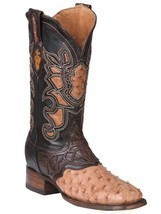 Western Boot Old Mejico Exotic Ostrich Ranger Mad Dog ID 301092 - £230.74 GBP