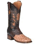 Western Boot Old Mejico Exotic Ostrich Ranger Mad Dog ID 301092 - £228.66 GBP