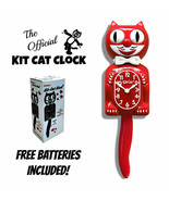 "SCARLET RED KIT CAT CLOCK 15.5"" Free Battery MADE IN USA New Kit-Cat Klock - $69.99"