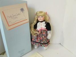 Goebel Musical Doll Andrea Bette Ball Betty Jane Carver Doll Ltd Ed 1992 Coa - $24.70