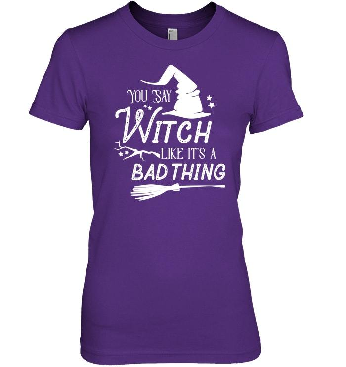 Funny Halloween Witch Tshirt For Women  Girls