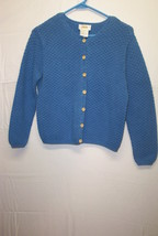 Talbots Cardigan Sweater, size 8, Blue - $15.85