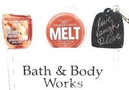 Bath & Body Works Sweet Cinnamon Pumpkin Wax melt PocketBac & Live Love Laugh - $22.28
