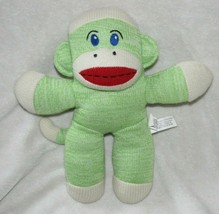 Mini Maxx Stuffed Plush Knit Sweater Green Sock Monkey Animal Doll Toy R... - $29.69