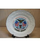 Collector Plate Bicentennial USA Flags Eagle Liberty Bell Gold Rim  1776... - $9.95