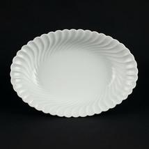 """Haviland Limoges Torse Oval Vegetable Bowl, Vintage All White Swirl 10 1/2"""" - $39.20"""