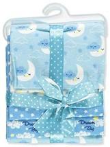Zak & Zoey 4-Pack Flannel Receiving Blankets - Blue/Multi, one Size