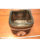 OWL glass cube planter with wood, burlap and twine - NEW - GORGEOUS! - $25.00