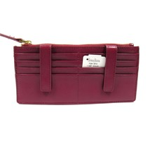 Neiman Marcus Women's ID Wallet Organizer Card Case Saffiano Leather Burgundy - $44.88