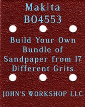 Build Your Own Bundle of Makita BO4553 1/4 Sheet No-Slip Sandpaper - 17 Grits! - $0.99
