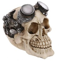 Skull Head Ornaments Home Halloween Ornament Decoration Collection Xmas ... - £19.10 GBP