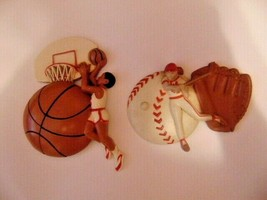 Vtg Burwood Plaque Basketball & Baseball 1995-Ball-Bat-Glove-Basketball ... - $3.99
