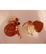 Vtg Burwood Plaque Basketball & Baseball 1995-Ball-Bat-Glove-Basketball ... - $3.99