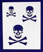 "Skull Stencil 14 Mil- 2"", 3"", 4"" -1 Sheet-Painting/Crafts/Templates - $7.99"