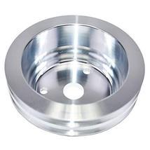 A-Team Performance Double-Groove Aluminum Crankshaft Long Water Pump Pulley Comp