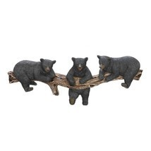 "Black Bear Cub Trio Wall Hook Rustic Cabin Decor Accent 18.2"" NEW #10016200 - $23.37"