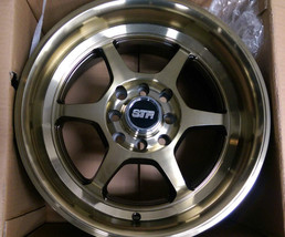 15x8 STR 501 or NEOZ 5001 Titanium Bronze Wheel Discontinued RARE! 4x100... - $102.85