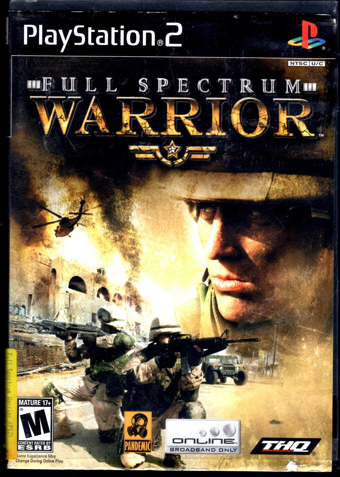 Playstation 2 - THQ - FULL SPECTRUM WARRIOR (Complete with Instructions)