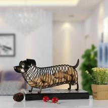 Dachshund Wine Cork Container Iron Craft Animal Ornament Gift Home Decor... - $46.52