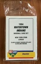"1994 WATERTOWN INDIANS TEAM ""FLEER PROCARDS"" MINOR LEAGUE SET  - $6.88"