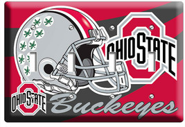 OHIO STATE BUCKEYES UNIVERSITY FOOTBALL TEAM 4 GANG LIGHT SWITCH ROOM HO... - $19.99