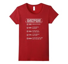 Best New Shirts - Funny Electrician Hourly Rate Pricing Chart T-Shirt | ... - $19.95+