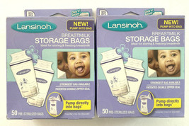 100 Lansinoh Breastmilk Storage Bags BPA Free Pump Directly Into Milk Ba... - $18.69