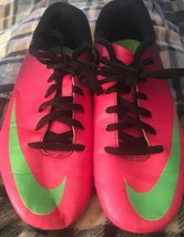 Nike Jr Mercurial Size 5.5 Youth Purple Pink Lime  Indoor Soccer Shoes - $25.41