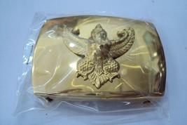 Garuda belt buckle Thai Air Force Soldier gold color RTAF Collectible Militaria - $14.03