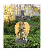 Blessed Cross Solar Lighted Wings Gentle Angel Statue - $26.48