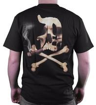 Dissizit! Mens Blunted English D x Bones Blunt Smoking Black T-Shirt Slick LA image 2