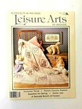 VTG Leisure Arts Magazine April 1988 Cross Stitch Bear Rabbits Throw Swe... - $15.60