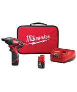 M12 12-Volt Lithium-Ion Cordless 1/4 in. Hex Screwdriver Kit with Two 1.5Ah Batt - $128.47