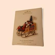 Hallmark Recuerdo Fox & Cacería Árbol de Navidad Entrega Kringlewood Gra... - $18.31